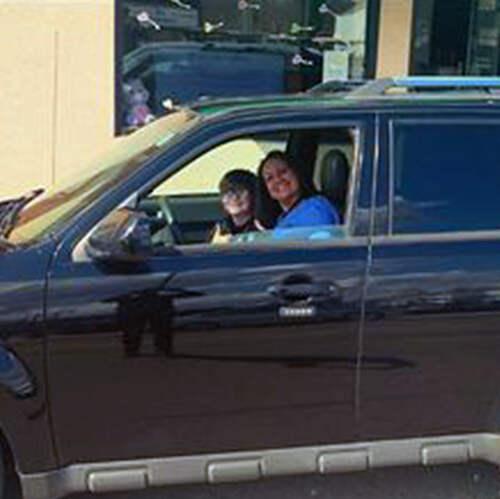 Kristi with car